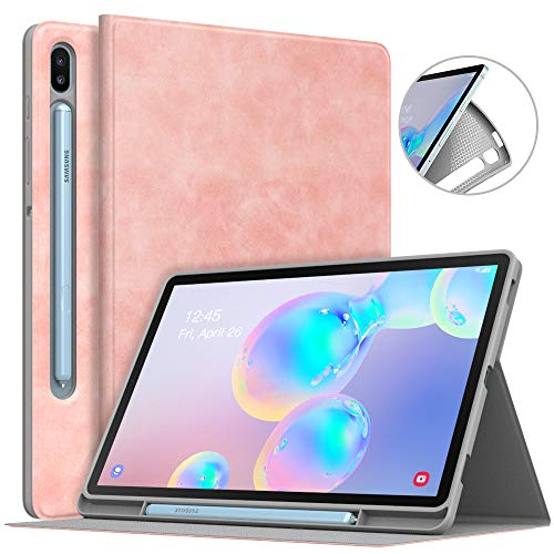 MoKo Funda para Galaxy Tab S6 10.5  SM-T860 T865 2019, Premium Cubierta Ligera Anti-Choque Stand Fución Case Cover Protector para Galaxy Tab S6 10.5  SM-T860 T865 2019 - Oro Rosa