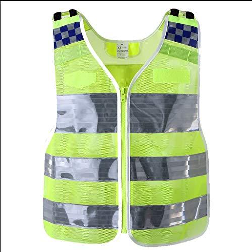 La seguridad Chaleco reflectante de seguridad, Trajes de seguridad de alta visibilidad, Trabajadores de la construcción de marcha nocturna, Ropa de seguridad de advertencia nocturna Ligero