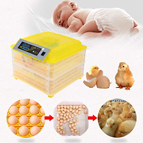 XuanYue Egg Incubator Automatic 112 Eggs Digital Incubators Turning Chicken Built-in LED Light Hatching Eggs Hatcher for Chicken Ducks Goose Poultry Pigeon Quail