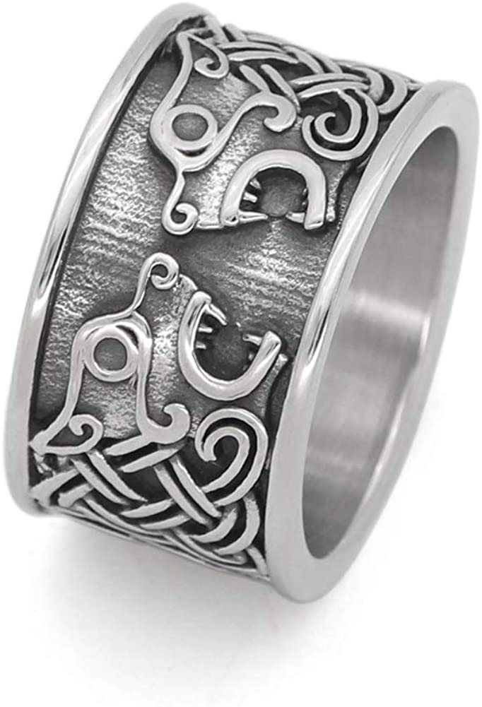GuoShuang Nordic viking stainless steel knot bear amulet ce Trust ring Fees free!!