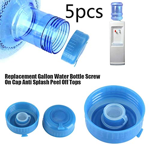 5 Stücke Anti Splash Deckel Gallone Wasser Flaschenverschlüsse Kunststoff Blau Gallone Trinkwasser Flasche Schraube auf Kappe Ersatz