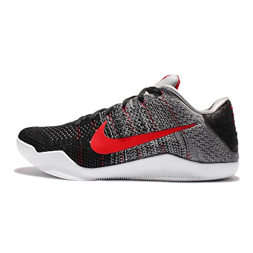 Nike Men's Kobe XI Elite Low, Tinker Hatfield-Cool Grey/University RED-Black, 12 M US