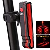 Sewa USB Rechargeable LED Bike Tail Light, Laser Rear Bicycle Light with Multiple Modes for Night & Daytime Cycling Safety