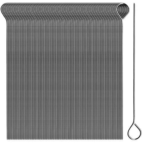 com-four® 100x Rouladennadeln aus Edelstahl - 11 cm lange Fleischspieße - premium Spieße im Set (100 Stück - Nadel)