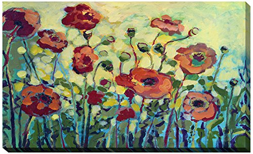 Picture Perfect International Giclee Stretched Wall Art by Jennifer Lommers Anitas Poppies Artists-Canvas, 36' x 60' x 1.5'