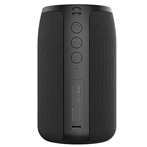 Zealot Altavoz Bluetooth inalámbrico,TWS-Caja de Sonido portátil HiFi Subwoofer Sonido estéreo,Micrófono Tarjeta TF/BT/AUX Entrada de línea 3 Modos de reproducción para Acampar Viajes Senderismo