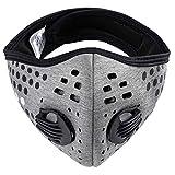 Anti-Polvo Máscara Protectora Smog Face Mask Filtro de polvo Cubierta Máscaras de Correr Ciclismo MFAZ Morefaz Ltd (Dots Grey)