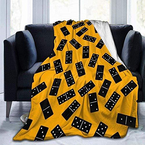Manta china, estilo vintage chino con estampado de mahjong, ligera, supersuave, cálida, cómoda, manta de forro polar para sofá, cama, sofá o silla niño de 150 x 100 cm