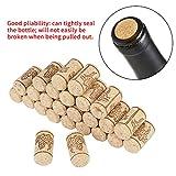 Tapón para botellas de vino, 100 unidades, 22 x 44 mm, corchos de vino natural, corchos rectos, de madera, tapón para botella de vino para la preparación y embotellado