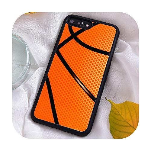 Funda de silicona TPU para iPhone 7 8 Plus X Xs 11 Pro Max XR 12 12mini 5 5S 6 6S Baloncesto Textura Real -FF2-66E-para Samsung S20 Plus