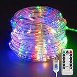 Manguera de Luces Exterior, 22M 200 LED Cadena de Luces,Manguera de luz LED Colores 8 Modos con Control Remoto para Jardín, Casa, Terraza Decoración