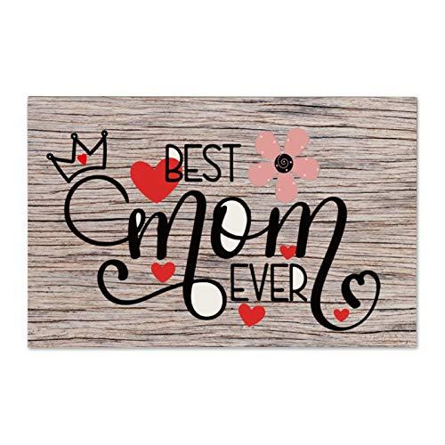Cartello in legno con scritta 'Best Mom Ever Wood' (lingua italiana non garantita)