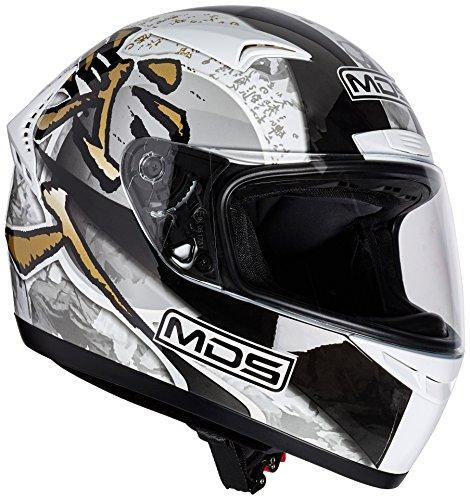 AGV Motorradhelm M13 MDS E2205 Multi, Mehrfarbig (Ronin Weiß/Gun Metal), L
