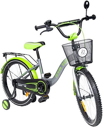 Toma Kinderfahrrad 20 Zoll Platinum Grün Dream Bike Design für Kinder ab 6 Jahren mit Stützrädern