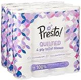 Marque Amazon - Presto! Papier toilette 4 épaisseurs - MATELASSÉ - Lot de 48 (3 x...
