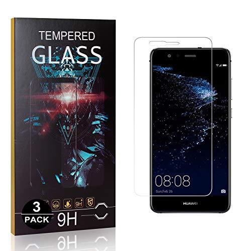 Bear Village® Verre Trempé pour Huawei P10 Lite, Anti Rayures Protection en Verre Trempé Écran pour Huawei P10 Lite, Dureté 9H, 99% Transparent, 3 Pièces