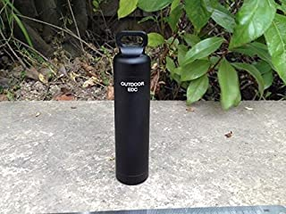 EKLOEN Black CNC Machined Aluminum EDC Survival Waterproof Capsule Seal Bottle Holder Case Container Survival EDC Emergency Tool