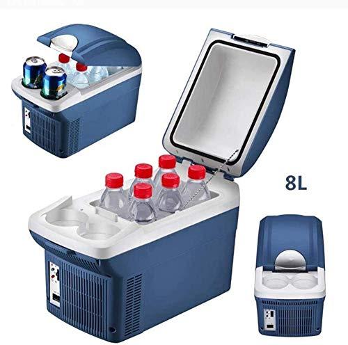 Autokühlschrank Mini Kleiner Kühlschrank 8L / 220V Dual Voltage Autokühlschrank für Auto und Zuhause Tragbares Auto Kühl und warm Elektrokühlbox Home Student Schlafsaal Muttermilch Obst. Improve