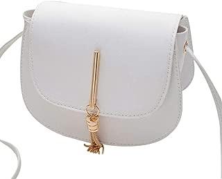 COAFIT Women's Shoulder Bag Tassel Saddle Purse Fashion Shoulder Purse