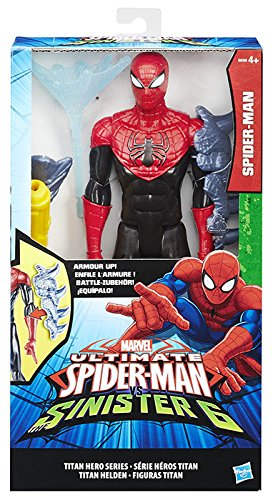 Spider-Man b5754eu4–Figur Spiderman Sortiert Deluxe rot / schwarz