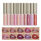 Matte Nude Lipstick Set, Christmas gift box, 10 Colors Waterproof Long Lasting Lip Gloss Non-Stick Cup Liquid Velvety Lipstick Set (10-1)