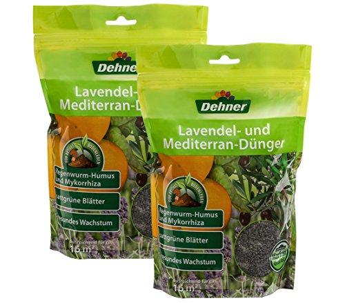 Dehner Lavendel- und Mediterran-Dünger, 2 x 1 kg (2 kg), für je ca. 16 qm