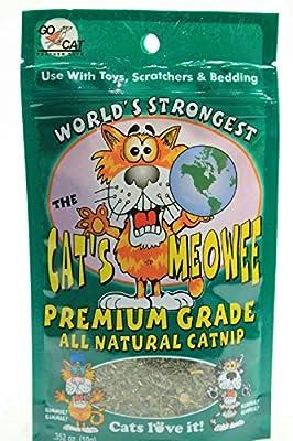 .352 Ounce The Cat's Meowee All Natural Premium Grade Cat Nip (Pack of 3)