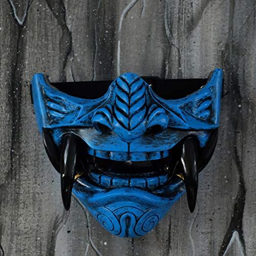 Samurai Oni Mask for Paintball Airsoft Gun Halloween Costume Ninja Cosplay Bushido Armor Sword Motorcycle Helmet D506…