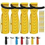 Wellgro - Soporte de pared para bicicleta (4 unidades, acero), color amarillo