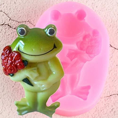 UNIYA Frog Silicone Mold Sugar Craft Wedding Fondant Cake Decorating Tools Rose Flower Cupcake Candy Fimo Clay Chocolate Mold
