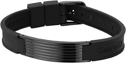 Zenturio Limited Black Wave Element Edition Exclusive Magnet/ion/Health Bracelet – TÜV Rheinland Germany Certified – for Your Health and Wellbeing