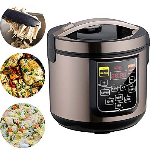 AURALLL Kitchen Professionnel Rice Cooker Steamer Non Stick Rice Cooker, 6 Riz Fonctions de Cuisine, 6 Fonctions multicuiseur Affichage LED, 5L, 700W