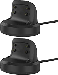 Emilydeals for Gear Fit 2 Charger, Gear Fit 2 Pro Charger (2-Pack), Replacement Charging Dock Cradle for Samsung Gear Fit 2 R360, Gear Fit 2 Pro R365 Smart Watch (2-Pack)