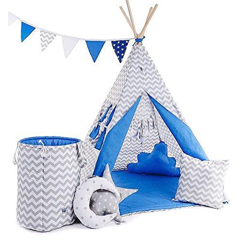 Indianentent tipi set voor kinderen speelgoed binnen buiten speeltent tent met mand tipi-set Indianen Tipi Tipi met en zonder accessoires verkrijgbaar