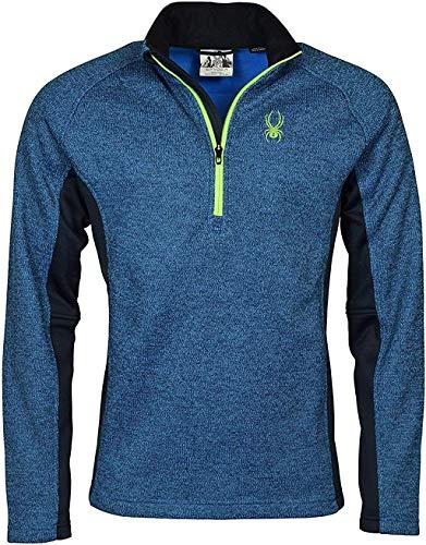 Spyder Men's Half-Zip Outbound Stryke Sweater Jacket - L - Blue