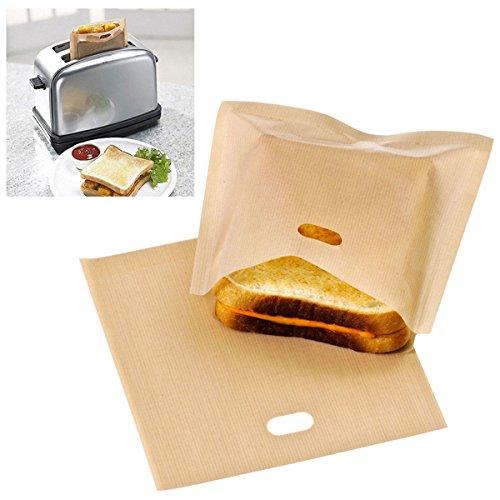 Bluelover Bolsas De Tostadora Reutilizable Bolsa Sandwich Antiadherente Pan Tostado De Bolsa Bolsas De Alimentos De La Calefacción