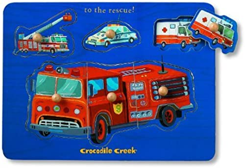 Rescue Vehicle Themed Wooden Puzzle by Crocodile Creek