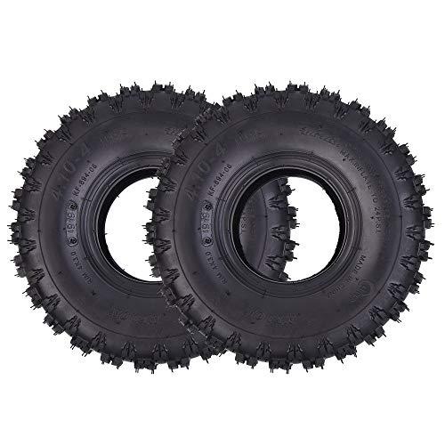 RUHUO Paquet de 2 pneus 4.10-4 410-4 Remplacement pour Souffleuse à Neige pour motoculteur de Jardin Go Cart Kid ATV
