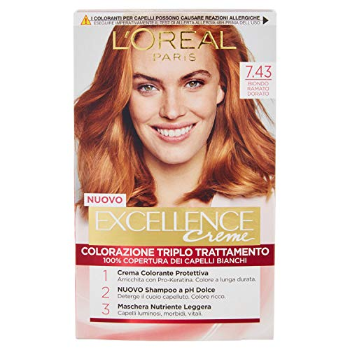 L'OREAL Excellence7,43 No Cuivre D'Or Blond - Cheveux Dye