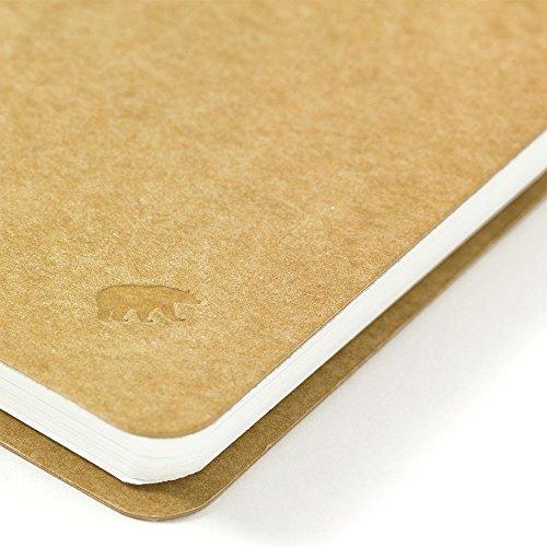 Tan spiral ring notebook Mukei northern polar bear pattern (japan import) Photo #8
