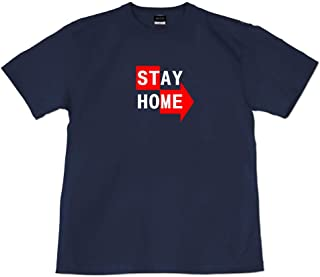 [GENJU] Tシャツ Stay Home ステイホーム 緊急事態宣言 ロックダウン メンズ キッズ