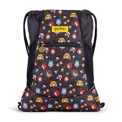 JuJuBe Pak en Ga String Rugzak | Lichtgewicht Trekkoord Rugzak, Verstelbare Banden, Travel-Friendly Gym Bag met Tech Pocket voor Kinderen en Volwassenen | Cheering Charms