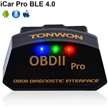 TONWON Car OBD2 Code Readers, OBDII Bluetooth Scan Tool Car Diagnostic Tool Vehicle Scanner for iOS and Andiord