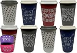 Aladdin 20oz Reusable Coffee Cups -Mixed Color with 2 ASSORTED Color Sleeves -