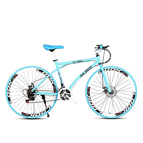 LRHD Biciclette da strada da uomo e donna, 24-velocità Biciclette 26 pollici, for adulti-solo, acciaio al carbonio Telaio, Strada di corsa della bicicletta, ruote della bicicletta della strada a doppi