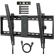 TV Wall Bracket, Tilt TV Mount for Most 37-70 inch LED, LCD, OLED, Flat&Curved TVs up to 60kg, Max V...