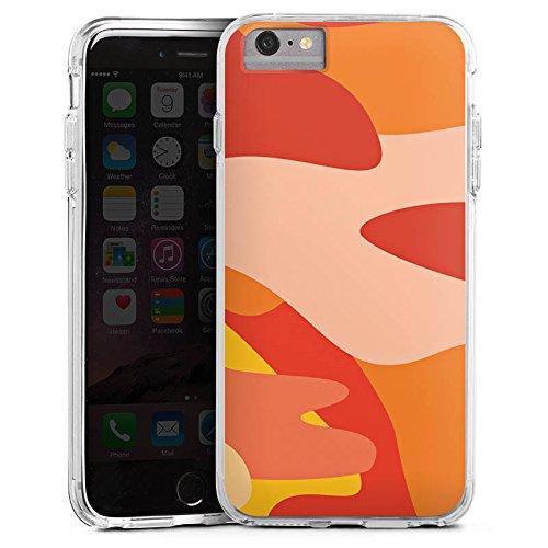 DeinDesign Cover kompatibel mit Apple iPhone 6s Plus Bumper Hülle Bumper Case Schutzhülle Camouflage Bundeswehr Orange