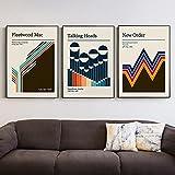 zuomo Fleetwood Talking Heads Gig Poster Populäre Musik