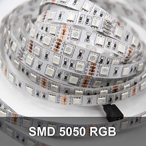 Daybetter 5050 RGB Infrared Remote Control Color Changing 50ft Led Strip Lights 7