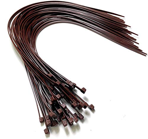 Kabelbinder – 450 mm x 4,8 mm – extra lange Kabelbinder – hochwertige Nylon-Kabelbinder (50, braun)
